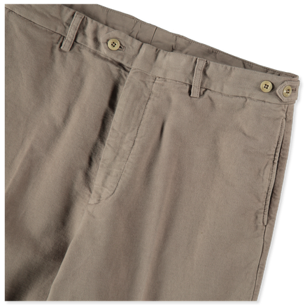 Wide Cinch Moleskin Trouser