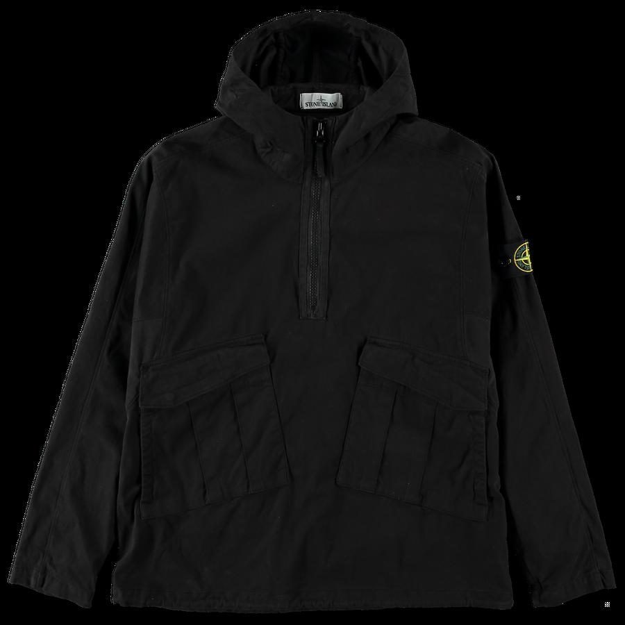 731510510  V0029 Hooded Pop Over Gabardine Stretch Overshirt