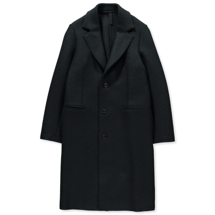 Single Breasted Pressed Wool Coat