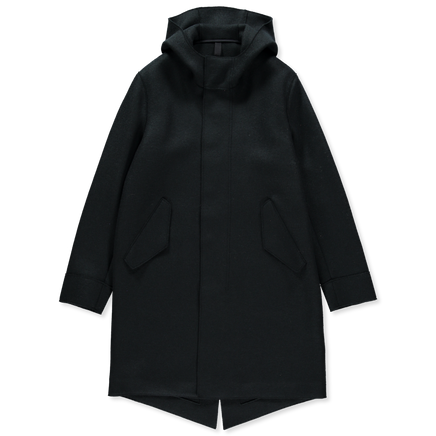 Fishtail Pressed Wool Parka