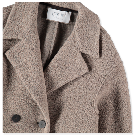 Dropped Shoulder Bouclé Coat