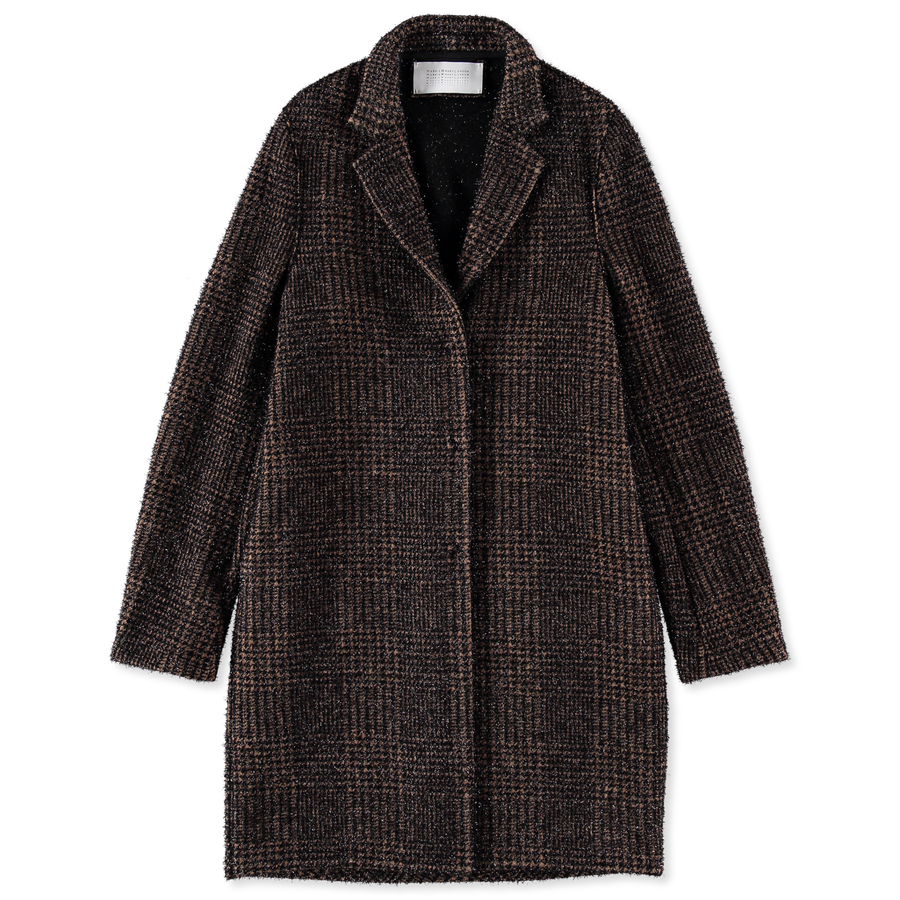 Prince Of Wales Cocoon Coat