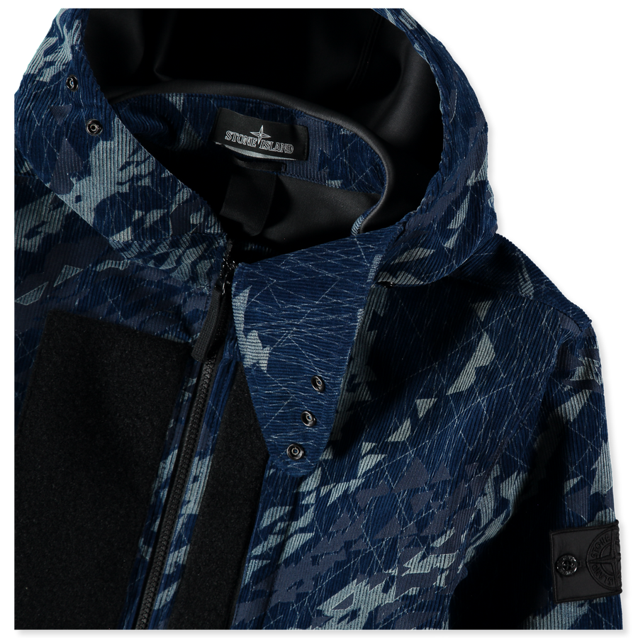 7319402I4  V0021 Corrosion Print Cord Indigo 3L Jacket