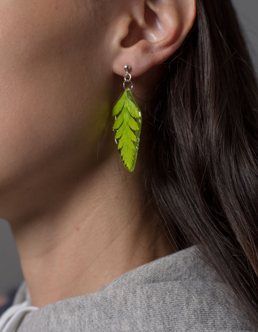 Mini Fern Earring