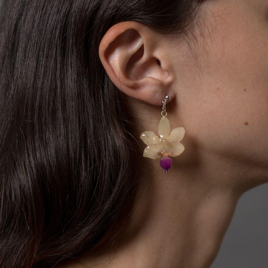 Mini Orchid Earring