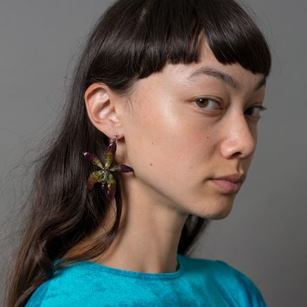 Tiger Orchid Earring