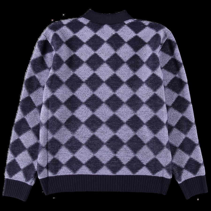 Checkered Polo Sweater