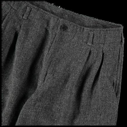 Herringbone Pleated Pant