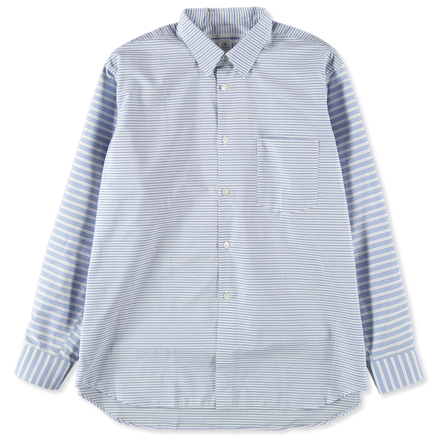 Forever Wide Diagonal Mix Stripe Shirt