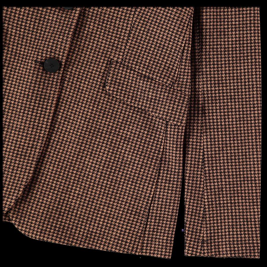 Tailored Houndstooth Blazer