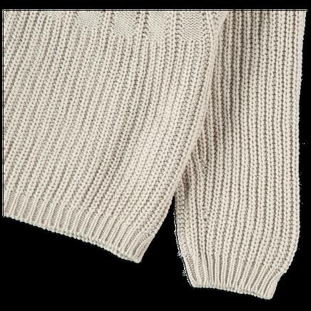 Ribbed Yoke Easy Sweater