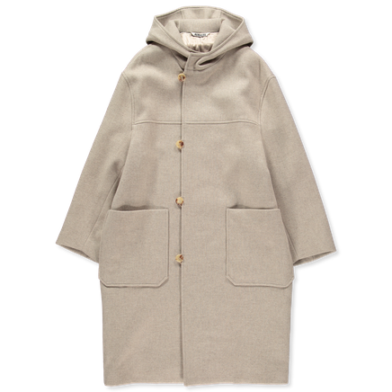 Light Melton Hooded Coat