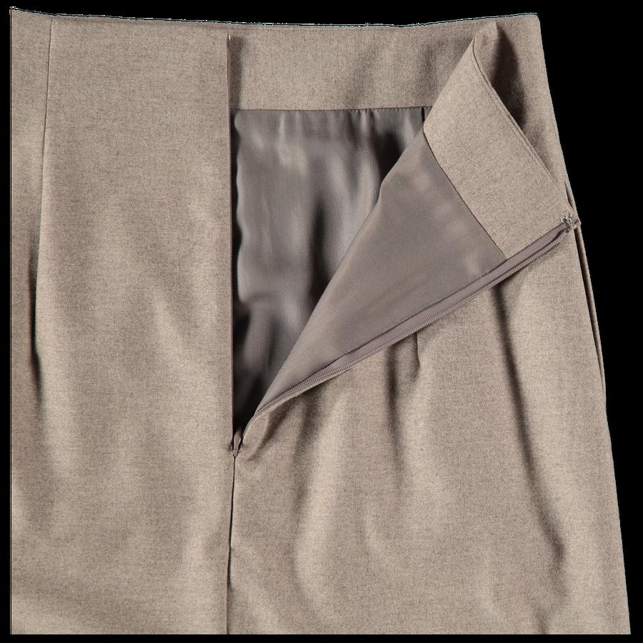 Wool Fulling Flannel Cloth Skirt
