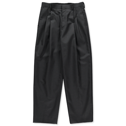 Bluefaced Wool Cloth Wide Slacks