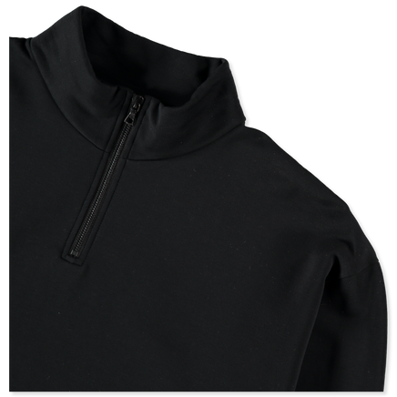 Elastic High Gauge Half Zip Sweat