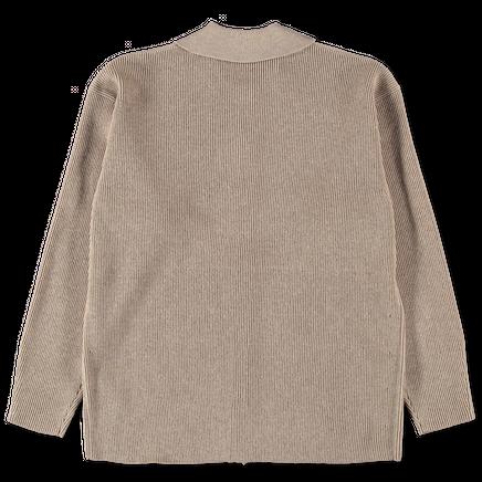 Superfine Light Wool Rib Cardigan