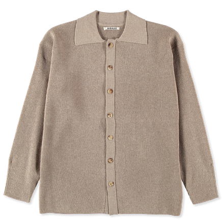 Superfine Light Wool Rib Cardigan