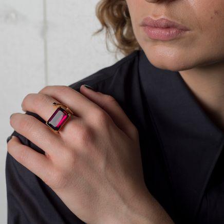 Warped Signet Ring