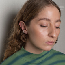 Cornelia Webb Folded Ear Cuff M - Silver