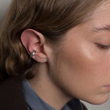 Cornelia Webb Folded Ear Cuff S - Silver