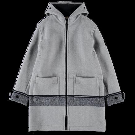 Panno Jacquard Hooded Zip Coat - 731571252 - V0035