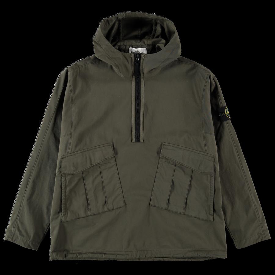 Hooded Pop Over Gabardine Stretch Overshirt 731510510 V0059
