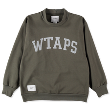 WTAPS COLLEGE / MOCK NECK / COPO - Olive Drab