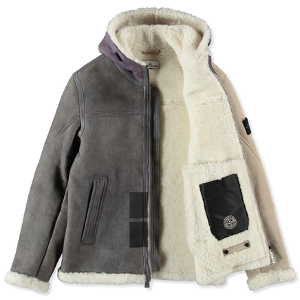 Hand Sprayed Over Printed Sheepskin Jacket - 731500195 - V009