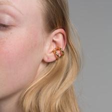 All Blues Turn Ear Cuff - Polished Gold