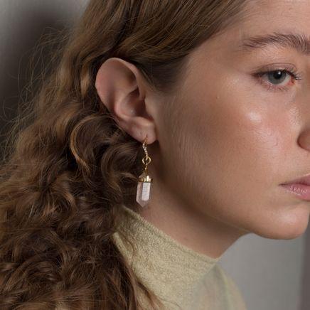 Crystalized Drop Earring L