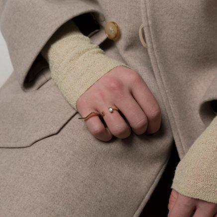 Warped Open Baguette Ring