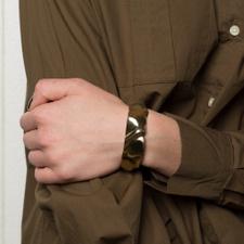 Cornelia Webb Folded Cuff S - Brass