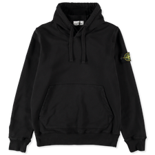 Stone Island Classic Hooded Fleece Sweatshirt 741564151 V0029 - BLACK