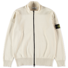 Stone Island Knitted Full Zip Sweater 7415508B6 V0093 - IVORY