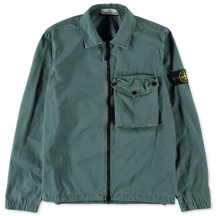 Old Effect Zip Overshirt - 7415117WN - V0157