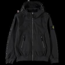 Stone Island Hooded Soft Shell Jacket - 741540727 - V0029 - BLACK
