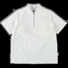 Anglozine Sedona Mid Zip Rib Shirt - White