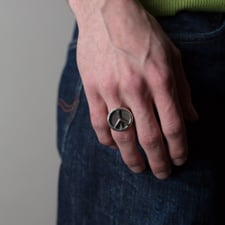 Needles Peace Ring - Silver