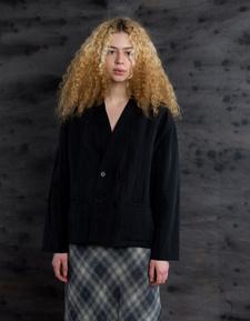 Barena Venezia Kimo Drape Cardigan - Black