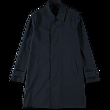 Harris Wharf London Light Technic Mac Coat - Dark Blue