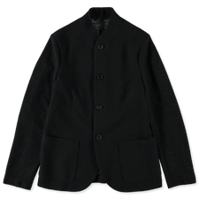 Harris Wharf London Frisé Nehru Jacket - Black