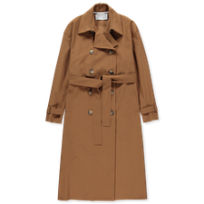 Harris Wharf London Light Technic Trench Coat - Tobacco