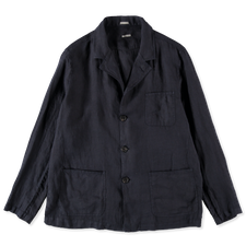 Massimo Alba Florida Linen Jacket - Navy