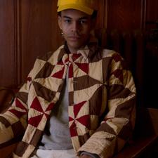 Bode                                               Pinwheel Quilt Jacket - Brown/Red/Ecru
