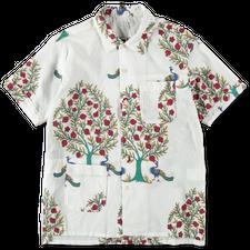 Engineered Garments  Camp Shirt Peacock - Natural