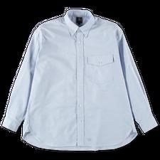 J.Press                                            Oxford Solid Baggy Fit Shirt - Blue