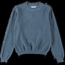 MASKA Hadar Rib Sweater - Dusty Blue