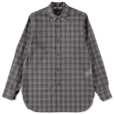 Auralee                                 Wool Sheer Check Shirt - Check