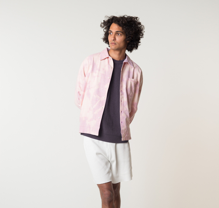 ERL                                                Check Flannel Shirt - Pink