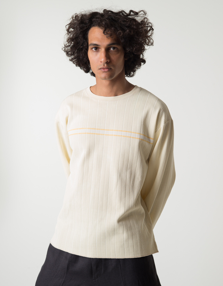 ERL                                                Stripe Print L/S T-Shirt - Taupe